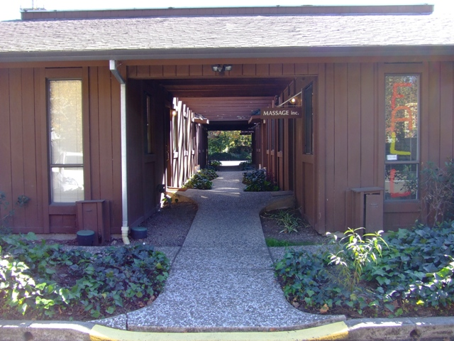View of the rear entrance to my Cotati office